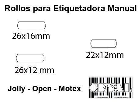 Rollos para etiquetadora manual