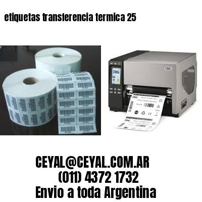 etiquetas transferencia termica 25