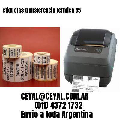etiquetas transferencia termica 85