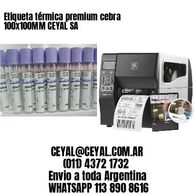 Etiqueta térmica premium cebra 100x100MM CEYAL SA