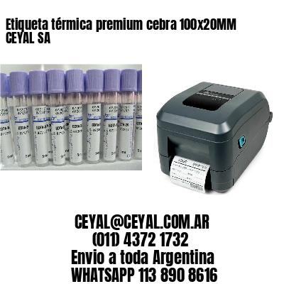 Etiqueta térmica premium cebra 100x20MM CEYAL SA