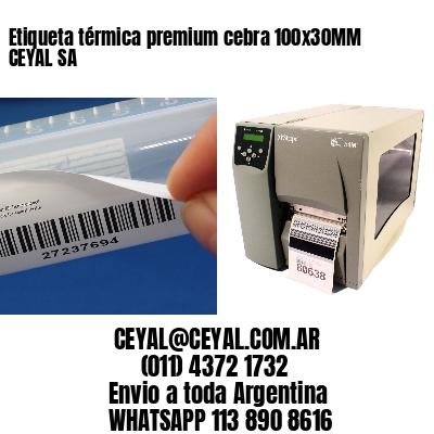 Etiqueta térmica premium cebra 100x30MM CEYAL SA