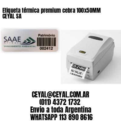 Etiqueta térmica premium cebra 100x50MM CEYAL SA