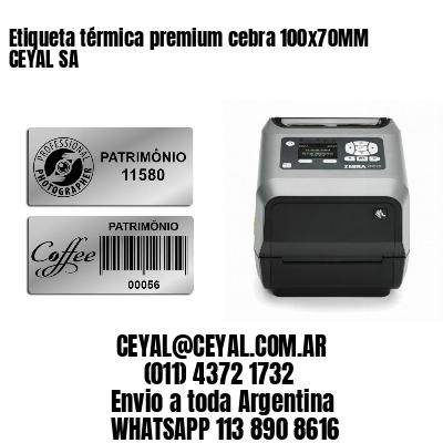 Etiqueta térmica premium cebra 100x70MM CEYAL SA