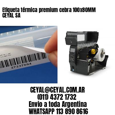 Etiqueta térmica premium cebra 100x80MM CEYAL SA