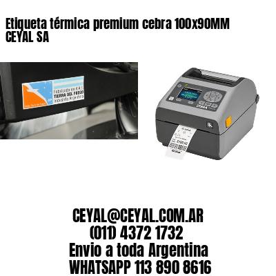 Etiqueta térmica premium cebra 100x90MM CEYAL SA