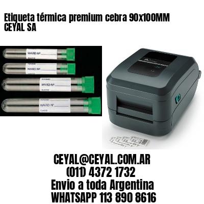 Etiqueta térmica premium cebra 90x100MM CEYAL SA
