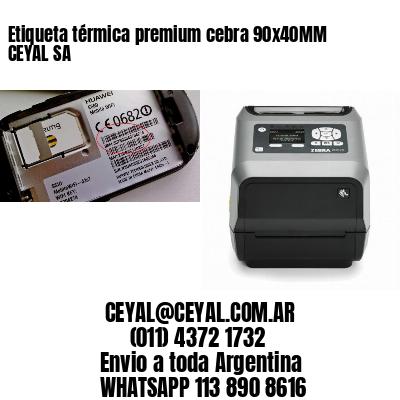 Etiqueta térmica premium cebra 90x40MM CEYAL SA