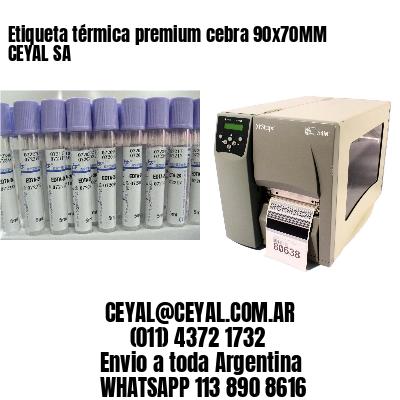 Etiqueta térmica premium cebra 90x70MM CEYAL SA