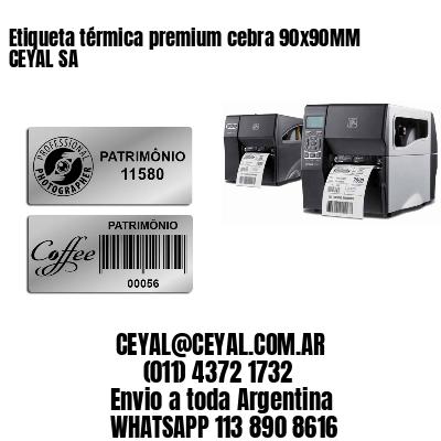 Etiqueta térmica premium cebra 90x90MM CEYAL SA