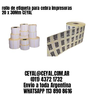 rollo de etiqueta para cebra impresoras 20 x 30Mm CEYAL