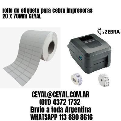rollo de etiqueta para cebra impresoras 20 x 70Mm CEYAL