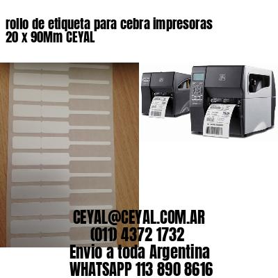 rollo de etiqueta para cebra impresoras 20 x 90Mm CEYAL