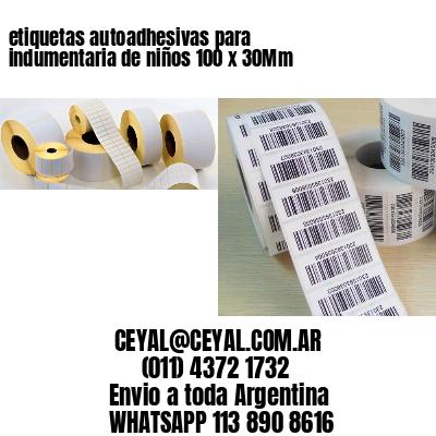 etiquetas autoadhesivas para indumentaria de niños 100 x 30Mm