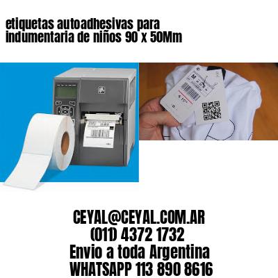 etiquetas autoadhesivas para indumentaria de niños 90 x 50Mm