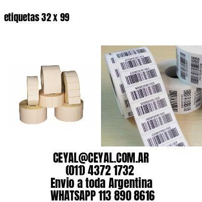 etiquetas 32 x 99