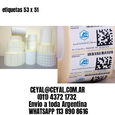 etiquetas 53 x 51