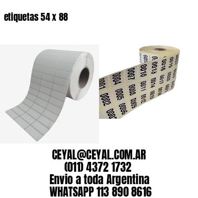 etiquetas 54 x 88