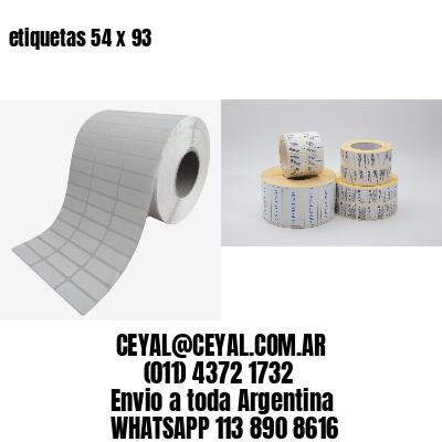 etiquetas 54 x 93