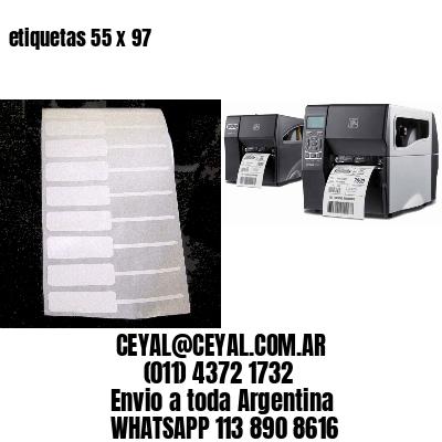 etiquetas 55 x 97