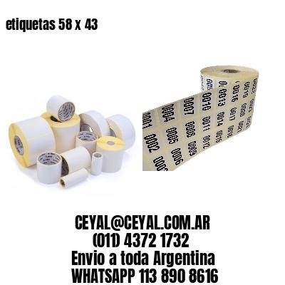 etiquetas 58 x 43