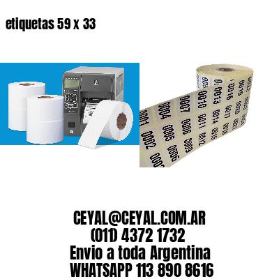 etiquetas 59 x 33