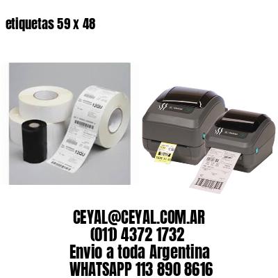 etiquetas 59 x 48