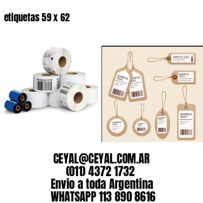 etiquetas 59 x 62