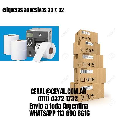 etiquetas adhesivas 33 x 32