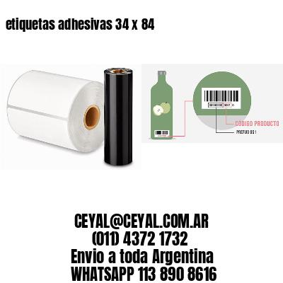 etiquetas adhesivas 34 x 84