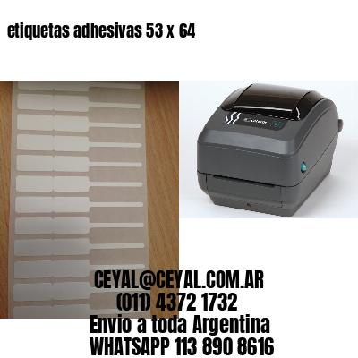 etiquetas adhesivas 53 x 64