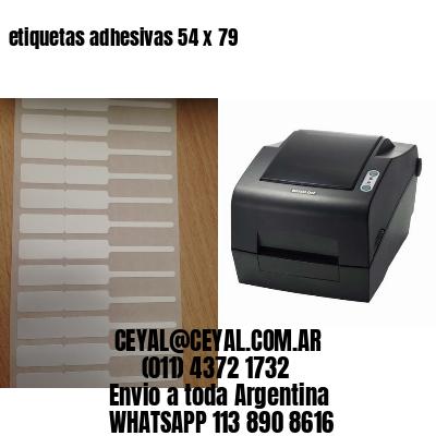 etiquetas adhesivas 54 x 79
