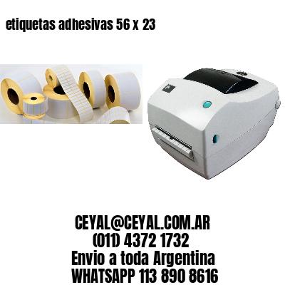 etiquetas adhesivas 56 x 23