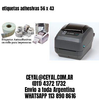 etiquetas adhesivas 56 x 43