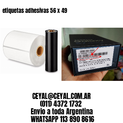 etiquetas adhesivas 56 x 49