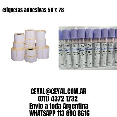 etiquetas adhesivas 56 x 78