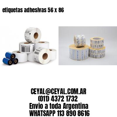 etiquetas adhesivas 56 x 86