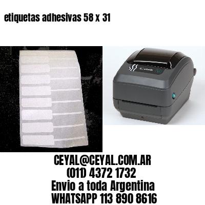etiquetas adhesivas 58 x 31