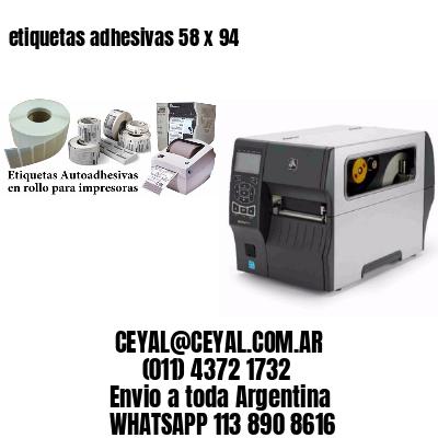 etiquetas adhesivas 58 x 94