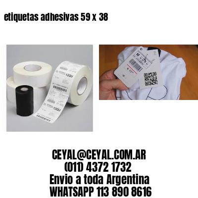 etiquetas adhesivas 59 x 38
