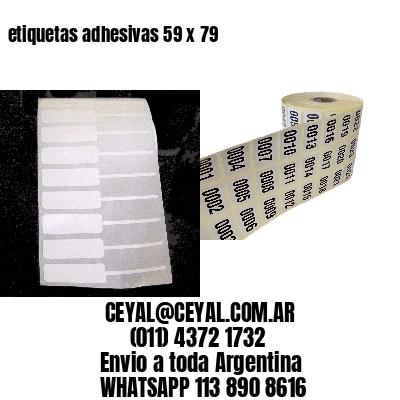 etiquetas adhesivas 59 x 79