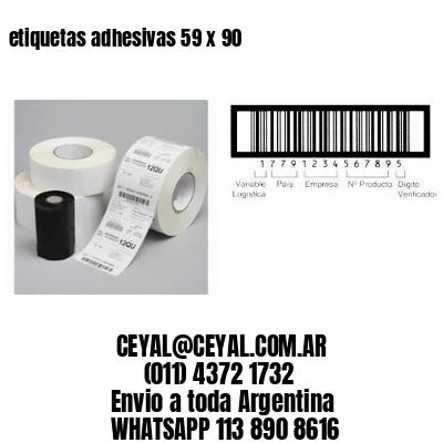 etiquetas adhesivas 59 x 90