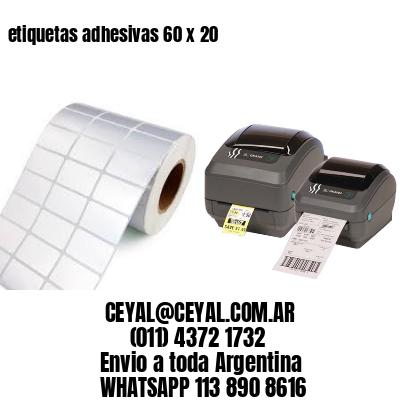 etiquetas adhesivas 60 x 20