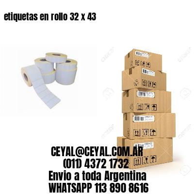 etiquetas en rollo 32 x 43