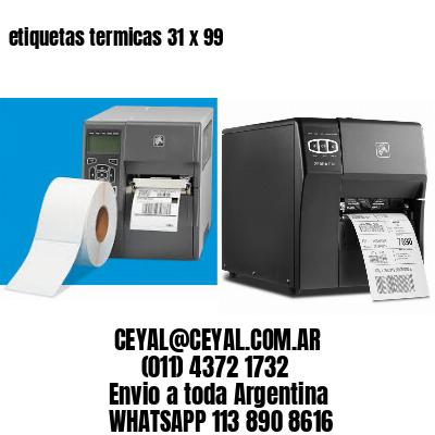 etiquetas termicas 31 x 99
