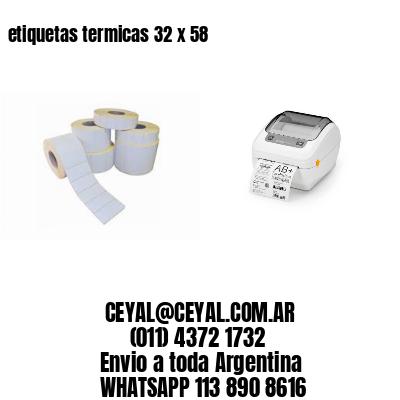 etiquetas termicas 32 x 58