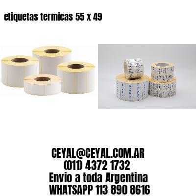 etiquetas termicas 55 x 49
