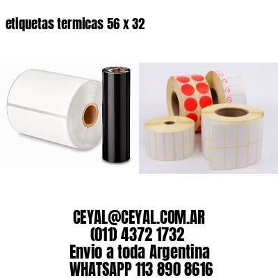 etiquetas termicas 56 x 32