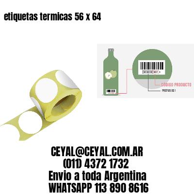 etiquetas termicas 56 x 64
