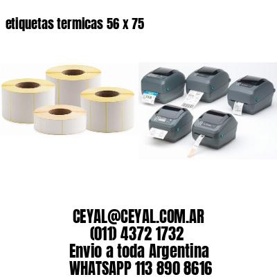 etiquetas termicas 56 x 75